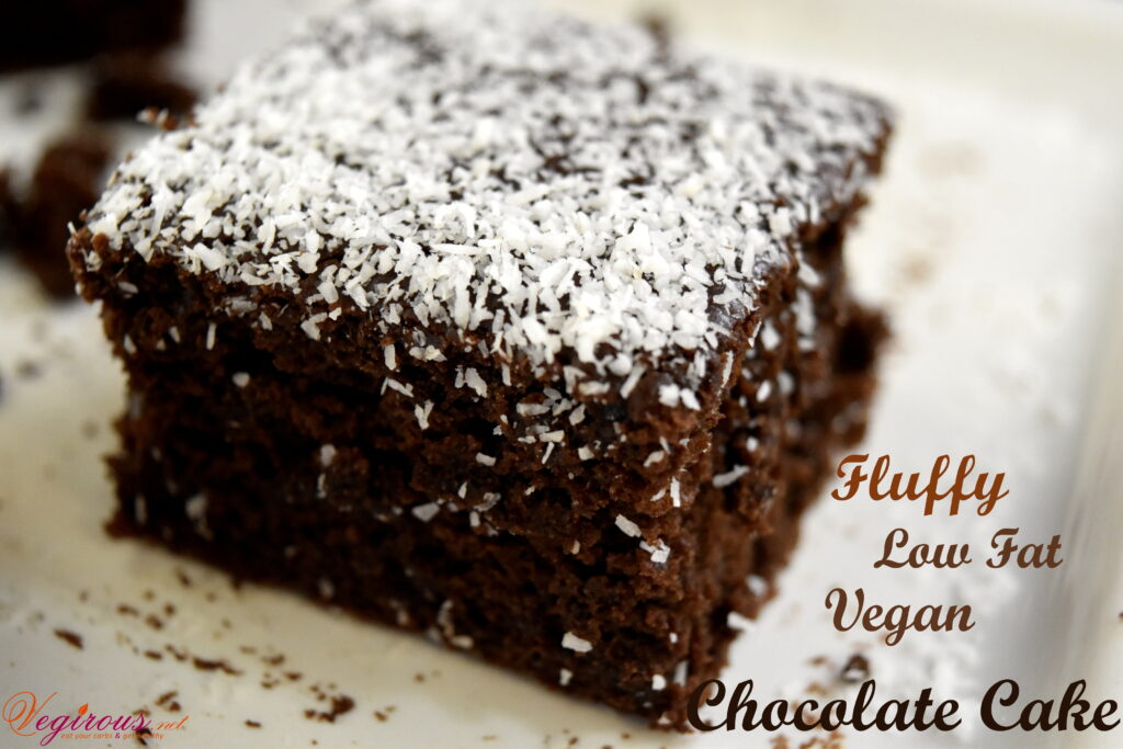 Vegan Fluffy Chocolate cake